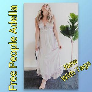 Free People Dress Adella Maxi LAST XS Silver Gray